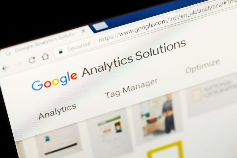 google analytics solutions on a laptop