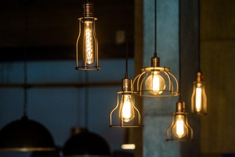 led lights lit in differents shapes