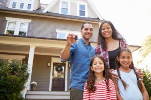 family with new home
