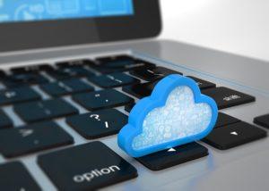 cloud figure on keyboard