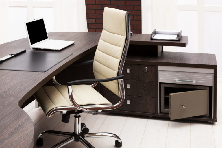 Modern office desk at home