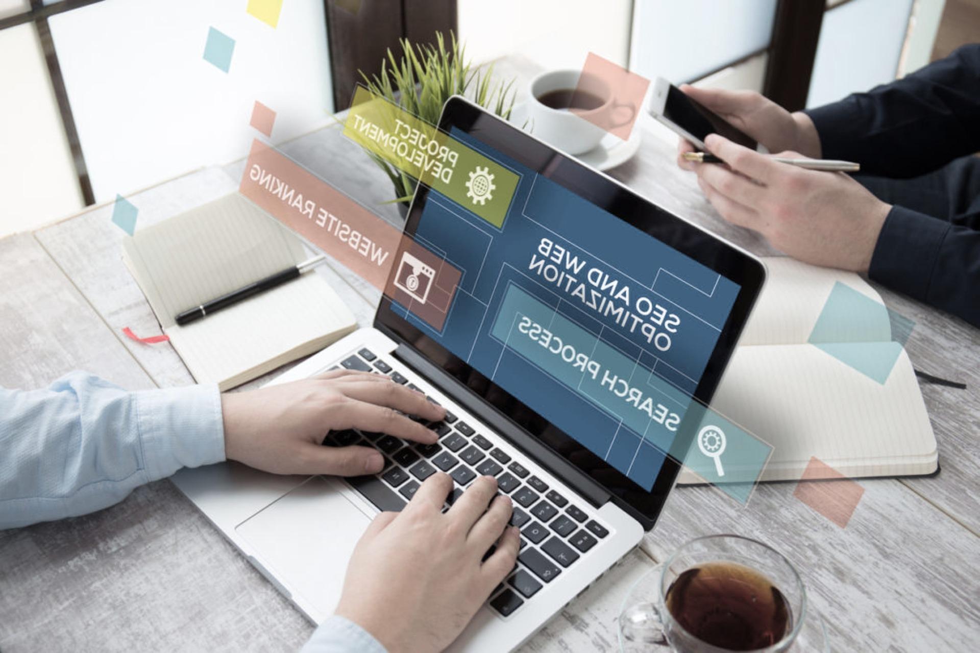 person establishing online presence