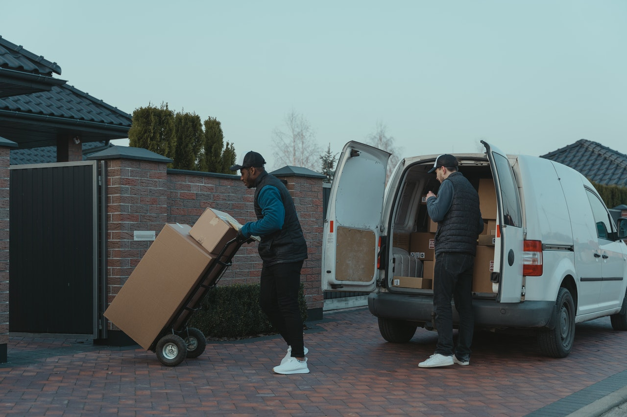 men delivering packages
