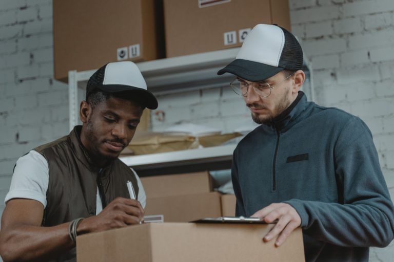 men delivering packages