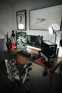 gaming set up