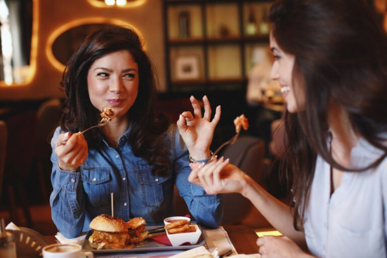 women eating at a restaurant